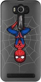 Snooky Printed Spiderman Mobile Back Cover of Asus Zenfone 2 Laser ZE550KL - Multicolour