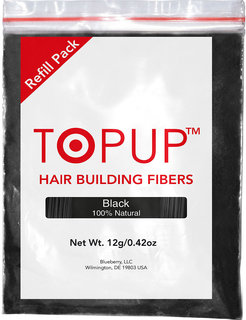 Hair building fiber refill pack TOPUP Hair Fiber 12gm Natural Black