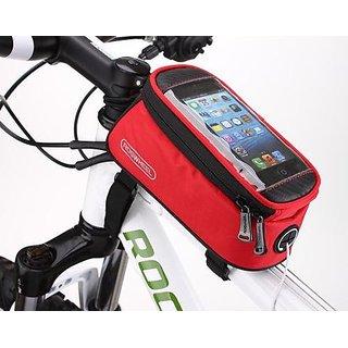 Aeoss Bike bag handle bar Bicycle Road Bag Mobile Phone Tube Front Bike Frame Waterproof Cell Phone Bag D 'Water Multifu