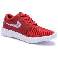 Cyro Men's Red Smart Running Sports Shoes