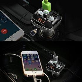 Tech Gear Bluetooth Car Kit Wireless FM Transmitter Dual USB Charger Audio MP3 Player