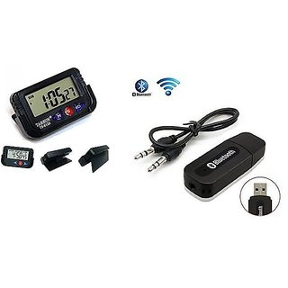 love4ride Combo for Car Dashboard Clock with Car Bluetooth Device