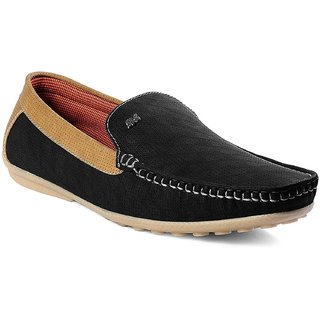 Cyro Men's Black Synthetic Leather Smart Casual Loafers