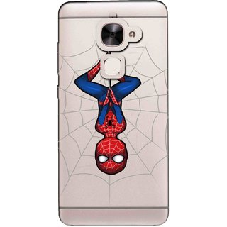 Snooky Printed Spiderman Mobile Back Cover of Letv Le 2 - Multicolour