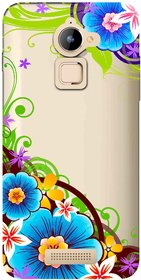 Snooky Printed Corner design Mobile Back Cover of Coolpad Note 3 Lite - Multicolour