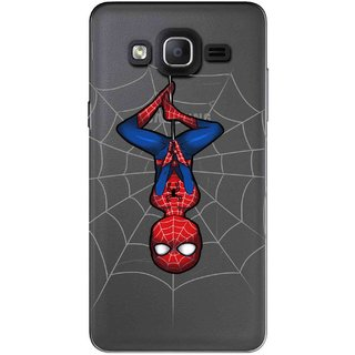 Snooky Printed Spiderman Mobile Back Cover of Samsung Galaxy On7 - Multicolour