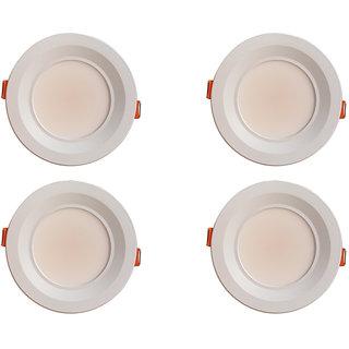 Bene Amore Aluminium Round Ceiling Light (White, 7w Pack of 4 Pcs)