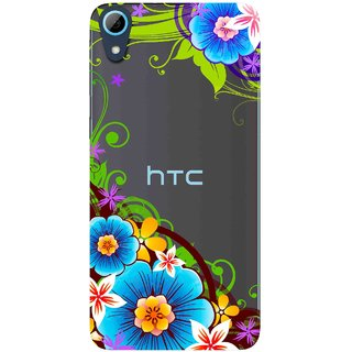 Snooky Printed Corner design Mobile Back Cover of HTC Desire 826 - Multicolour