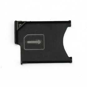 Sim Card Slot Sim Tray Holder Replacement Part for Sony Xperia Z - Black