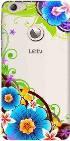 Snooky Printed Corner design Mobile Back Cover of Letv Le 1S - Multicolour
