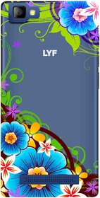 Snooky Printed Corner design Mobile Back Cover of LYF Flame 8 - Multicolour