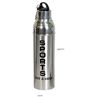 """Taluka (10.8"""" x 2.8"""" Inches approx) Stainless Steel Water bottle Sports Bottle Sipper Caacity :- 1 Liter Weight :- 280 Grams"""