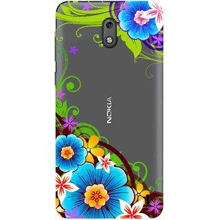 buy online 6bdbd f5ccb Snooky Printed Corner design Mobile Back Cover of Nokia 2 - Multicolour