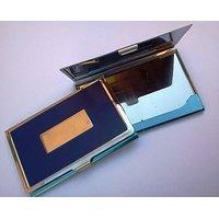 Set Of 3 Steel Aluma Visiting Card Holder