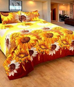 k decor Home Collective Microfiber Abstract Double Bedsheet with 2 Pillow Covers