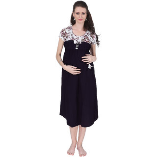 45c5b395fc1 Buy Vixenwrap Purple White Printed A-Line Maternity Gown Online - Get 41%  Off