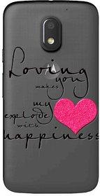 Snooky Printed Happiness Mobile Back Cover of Motorola Moto E3 Power - Multicolour