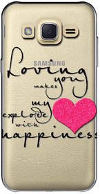 Snooky Printed Happiness Mobile Back Cover of Samsung Galaxy J2 - Multicolour