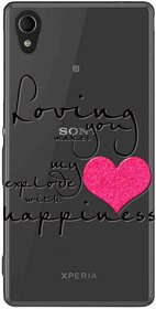 Snooky Printed Happiness Mobile Back Cover of Sony Xperia M4 - Multicolour