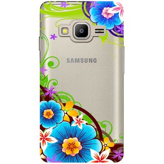 Snooky Printed Corner design Mobile Back Cover of Samsung Z2 - Multicolour