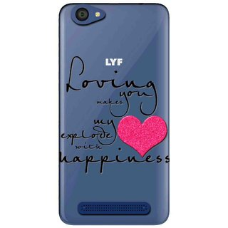 pretty nice 12f38 e8326 Snooky Printed Happiness Mobile Back Cover of LYF Flame 1 - Multicolour