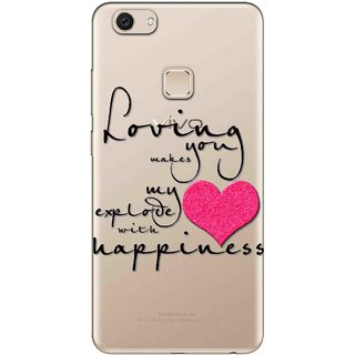 Snooky Printed Happiness Mobile Back Cover of Vivo V7 Plus - Multicolour