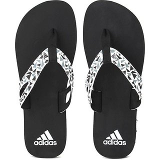 Adidas Ozor White and Black Flip Flop's  Slippers