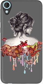 Snooky Printed Painting Mobile Back Cover of HTC Desire 820 - Multicolour