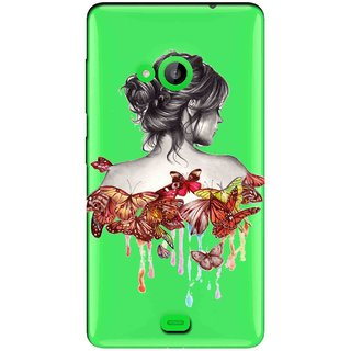 Snooky Printed Painting Mobile Back Cover of Nokia Lumia 535 - Multicolour