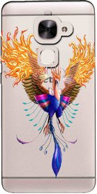 Snooky Printed Bird Mobile Back Cover of Letv Le 2 - Multicolour