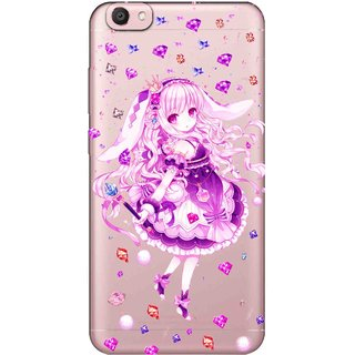 competitive price c5a1a d459b Snooky Printed Diamond Girl Mobile Back Cover of Vivo V5 - Multicolour