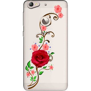 Snooky Printed Rose Mobile Back Cover of Letv Le 1S - Multicolour