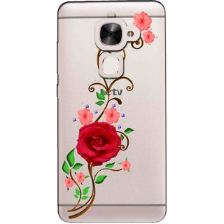 Snooky Printed Rose Mobile Back Cover of Letv Le 2 - Multicolour