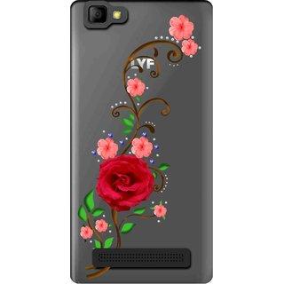 best service 0e24e d5f13 Snooky Printed Rose Mobile Back Cover of LYF Wind 7 - Multicolour