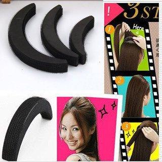 Liqon Set Of 3 Pcs Sponge Maker Styling Twist Magic Bun Volume Base Bump Hair Accessory Set