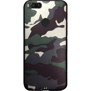 NIK TECH ONLINE Premium Army pattern Camouflage Silicon Back Cover for Redmi A1