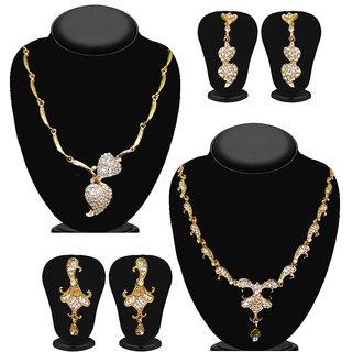 JewelMaze Set of 2 Necklace Combo-PAA1887
