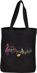 IGYPSY Ecofriendly Cotton Totes Bag In Black Color With