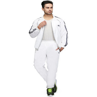 Abloom mens white  black Tracksuit