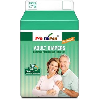 Diaposable Adult Diaper M Pack of 10
