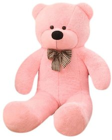 stuffed toy 3 feet with heart soft and cute teddy bear pink