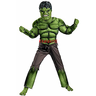 Hulk Muscles Superhero Fancy Dress Costume For Kids