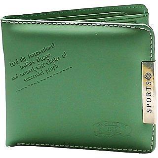 Unique Men's Sports Green Wallet ( Sport-01) (Synthetic leather/Rexine)