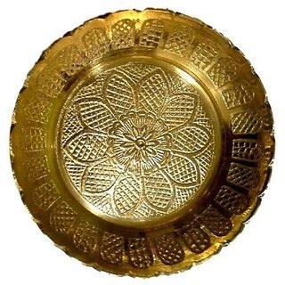 Designer Bhog Plate For God / Brass Plate For God
