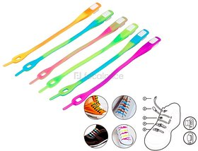 SPAZIES No Tie Shoelaces for Kids and Adults, Elastic Shoelaces for Sneakers, Silicone Flat Tieless Running Shoe Laces