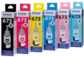 Original Epson Ink Bottles All Colours Set Of 6 For Epson L800