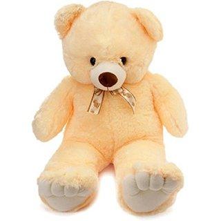stuffed toy sweet and soft 5 feet teddy bear cream