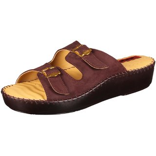 1 Walk Women's Brown Buckle Flat