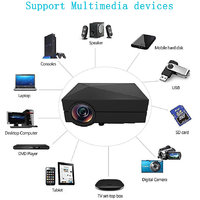 Hot Sale GM60 USB AV SD HDMI VGA TV Tuner Projectors Fo