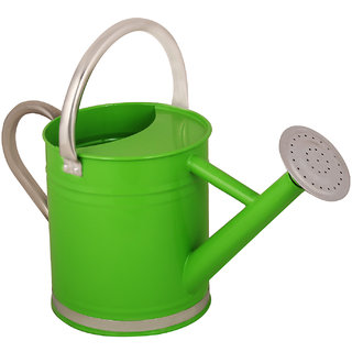 Wonderland 2.4 L Watering Can in Green with stainless steel spout and handle